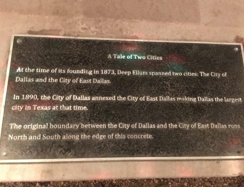 Once there was a City of East Dallas, and a trendy bar holds evidence of its annexation